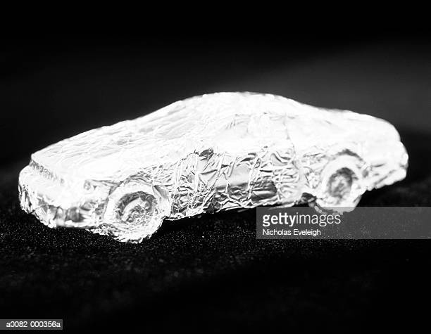 Automobile Covered in Foil
