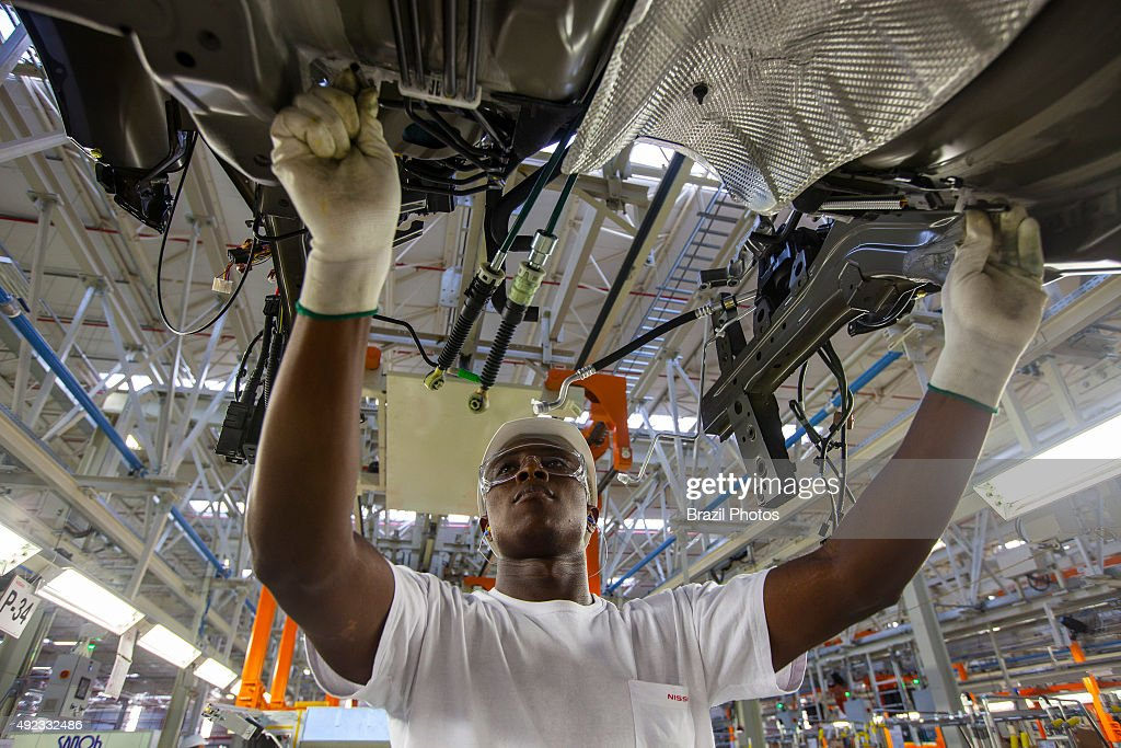 Automobile industry worker Nissan Resende factory in Brazil