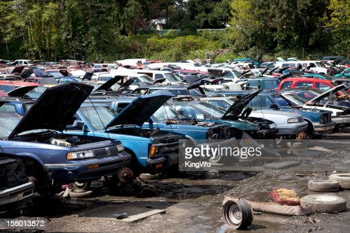 Automobile junkyard.