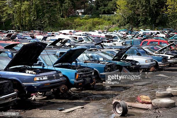 Automobile junkyard.