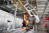 Automobile manufacturing workshop arm