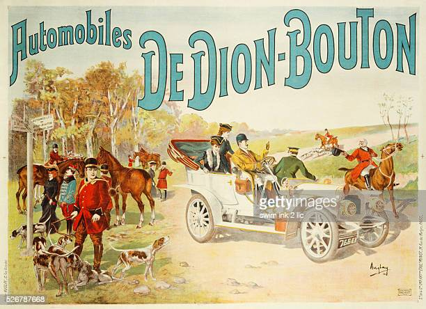 Automobiles de DionBouton Poster by Auglay