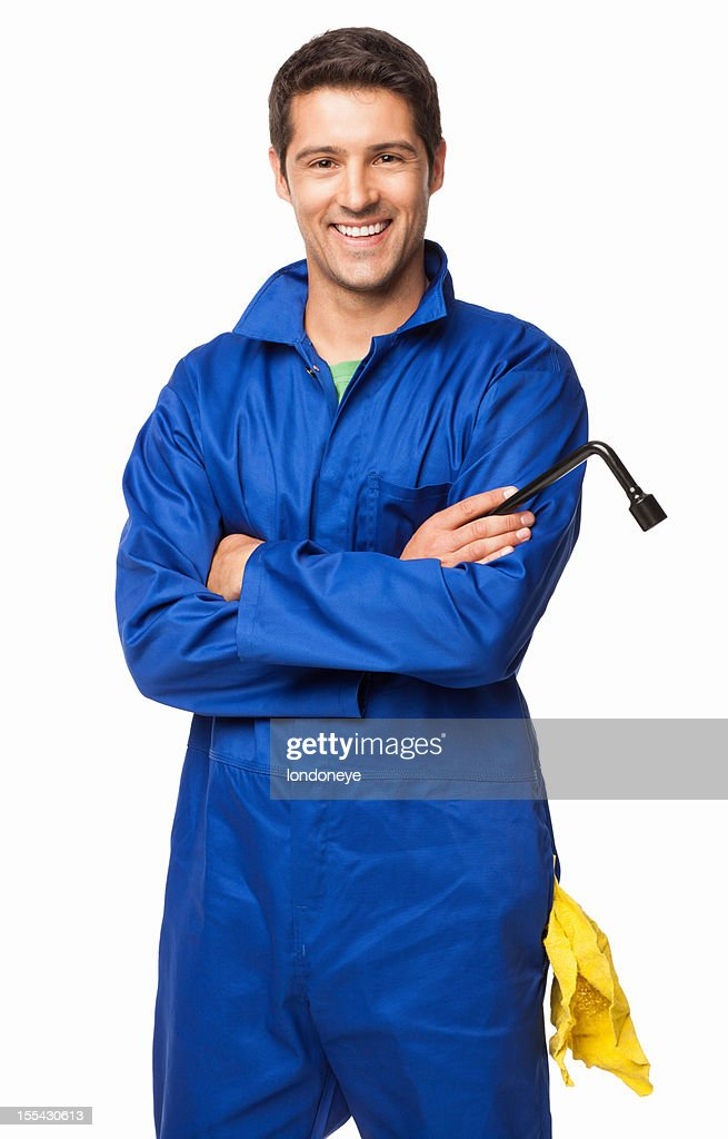 Automotive Technician Standing With Arms Crossed - Isolated