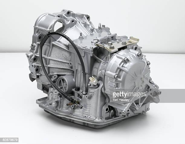 Automotive transmission on white background