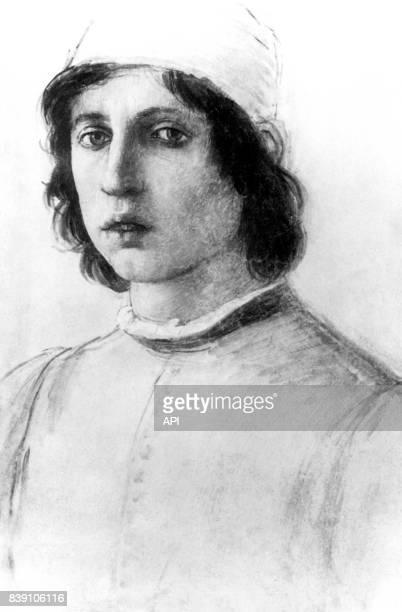 Autoportrait du peintre italien Filippino Lippi à la galerie des Offices de Florence en Italie