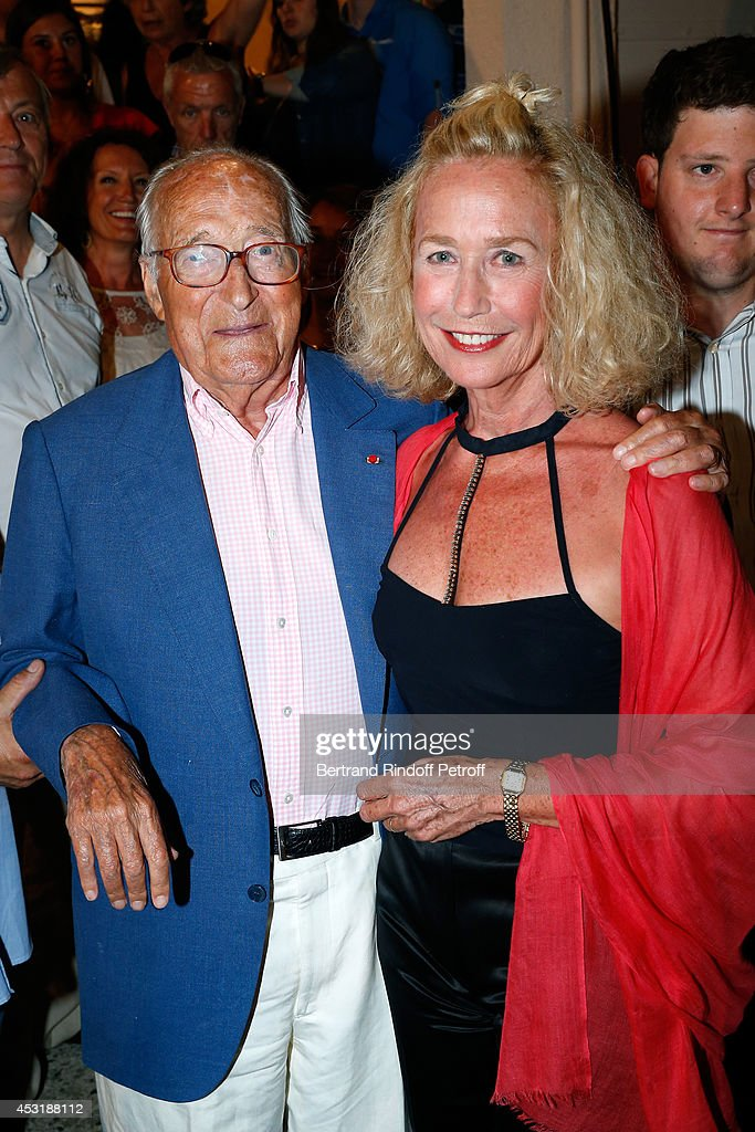 Autor Alain Decaux and actress Brigitte Fossey attend the 30th Ramatuelle Festival Day 4 on August 4 2014 in Ramatuelle France