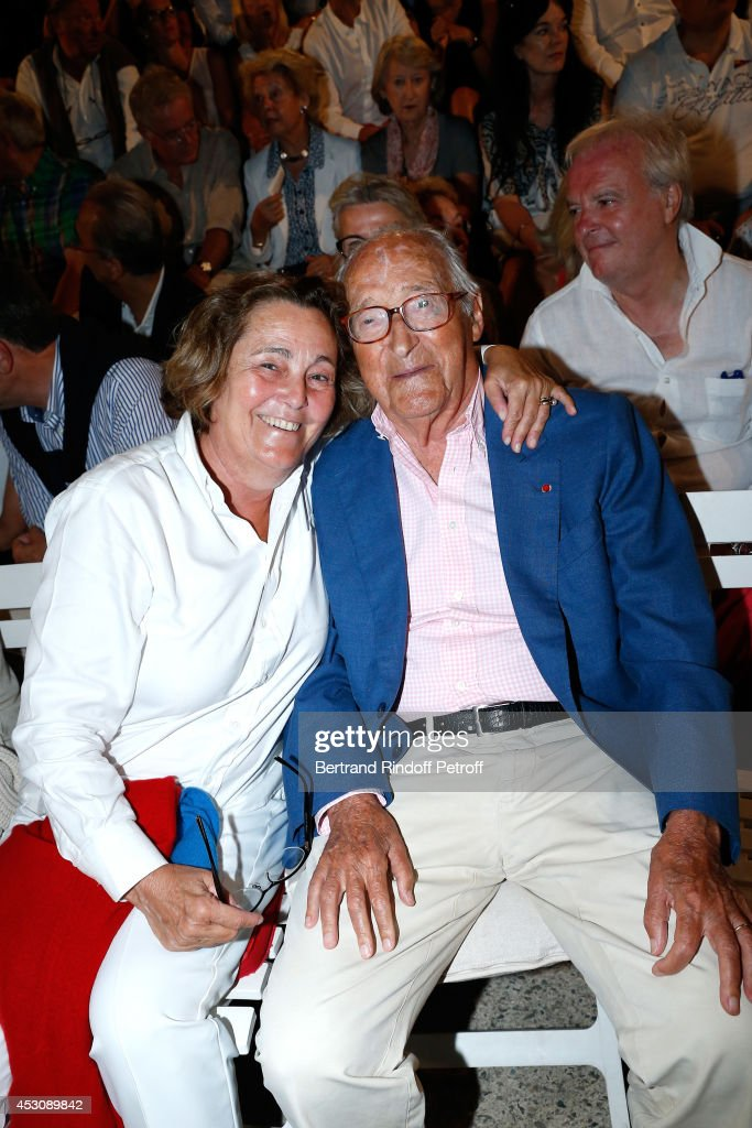 Autor <a gi-track='captionPersonalityLinkClicked' href=/galleries/search?phrase=Alain+Decaux&family=editorial&specificpeople=548611 ng-click='$event.stopPropagation()'>Alain Decaux</a> and his wife Micheline Pelletier attend the 30th Ramatuelle Festival : Day 2, on August 2, 2014 in Ramatuelle, France.