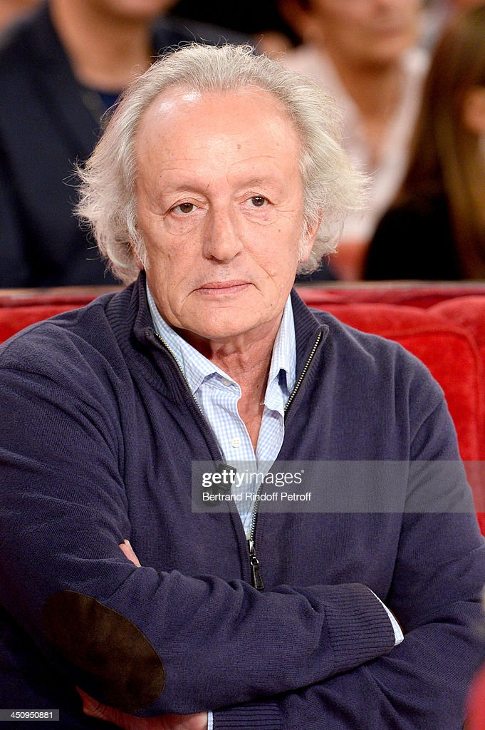 Autor Didier Barbelivien attends the 'Vivement Dimanche' French TV Show, held at Pavillon Gabriel on November 20, 2013 in Paris, France.