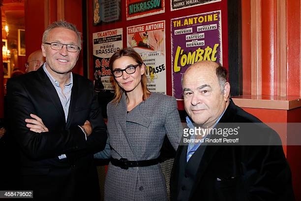 Autor of the piece Laurent Ruquier Princess of Savoy Clotilde Courau and actor Jean Benguigui attend the 150th Representation of the 'Je prefere...