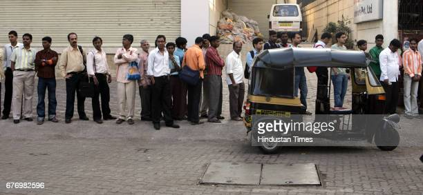 Autorickshaw Fuel Strike The queue at busstops were interminably long as people had to use the public transport since auto rickshaws stopped plying...
