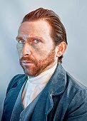 Actualización fotográfica del famoso autorretrato de Van Gogh (en el que el artista retrató a su hermano, como ha sido ya demostrado).