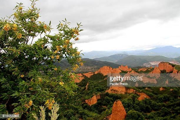 BIERZO PONFERRADA LEON SPAIN Autumm in the north of Spain in the world heritage Las Medulas and in Ponferrada where you can visit old gold mines...