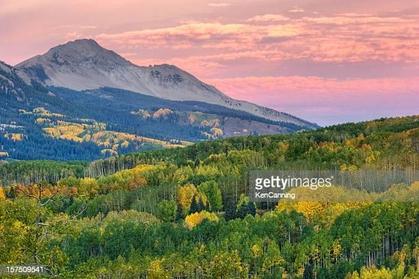 Autumn Aspen and Colorado Mountains