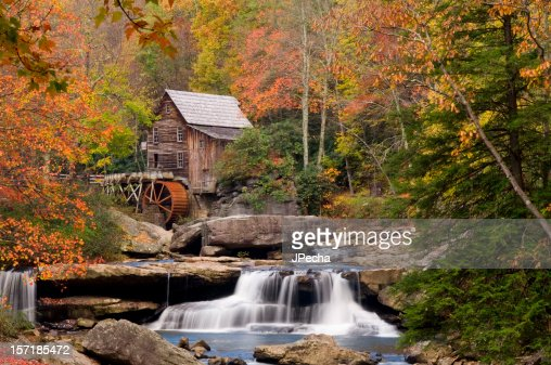 Autumn at Glade Creek Grist Mill, Babcock State Park