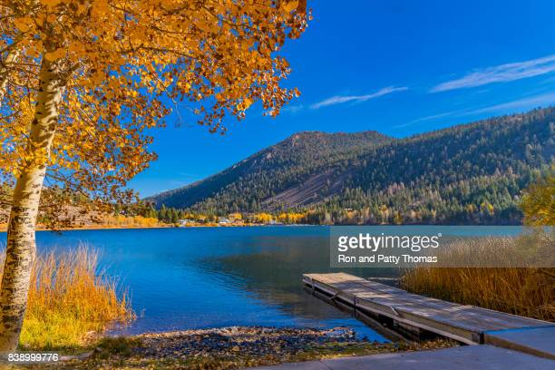 Autumn at Gull Lake along the June Lake Loop in Californian Sierra Nevada, CA