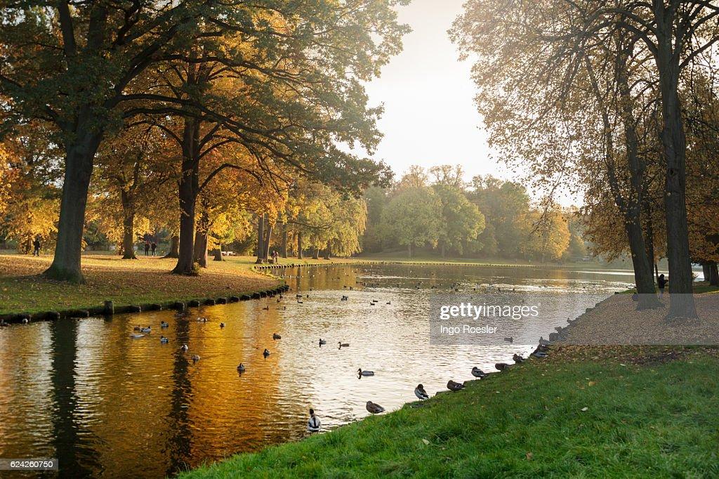 Autumn atmosphere in Luebeck : Stock Photo