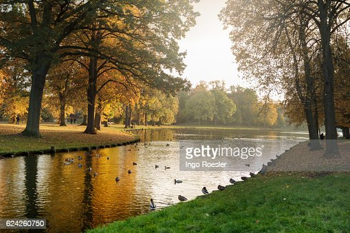 Autumn atmosphere in Luebeck : Stock Photo