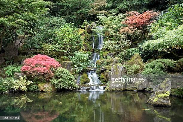 Herbst Farbe und Wasserfall
