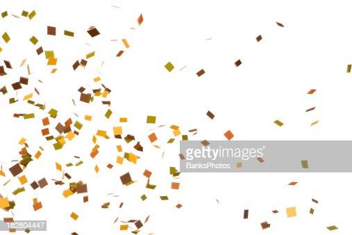 Outono cor de Confete cair, isolado a branco