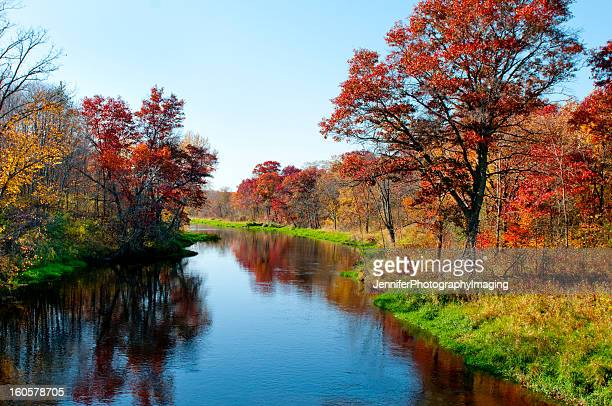 Autumn colors along a small river