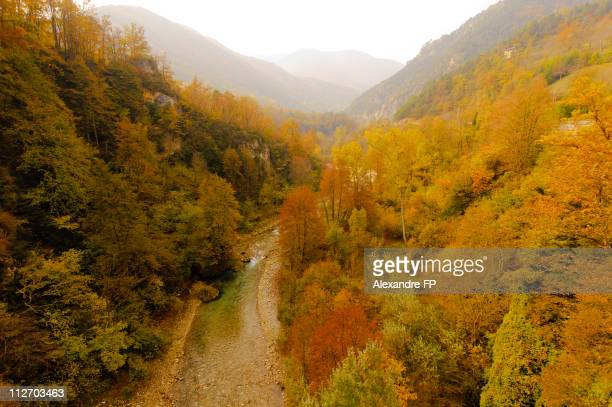 Autumn colours in Valle Maira Alps