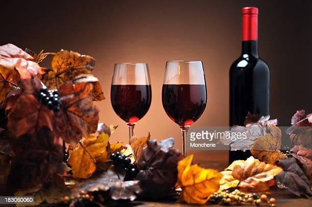 Décoration avec du vin d'automne