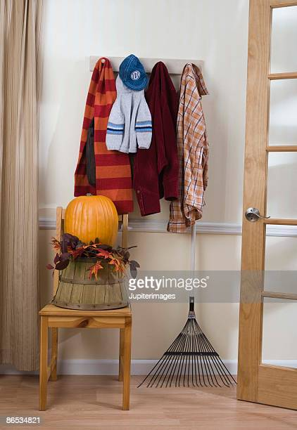 Autumn decorations and scarves