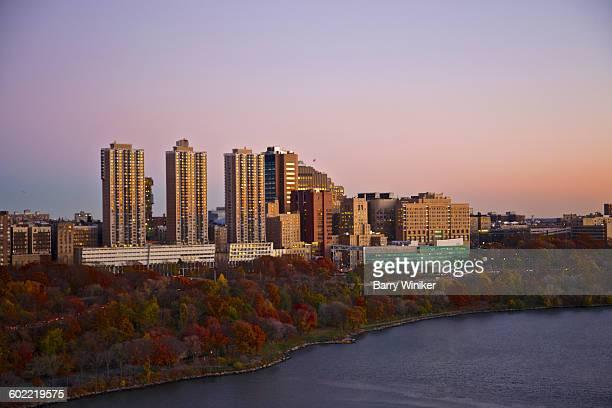 Autumn dusk view, Columbia U. Med Center