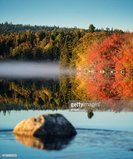 Autumn Fog on Lake