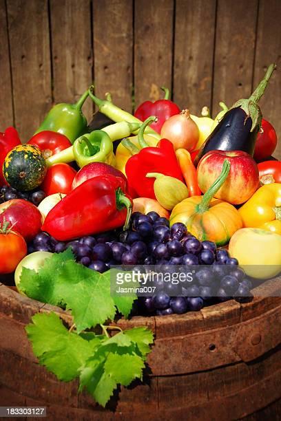 Herbst-Obst und Gemüse