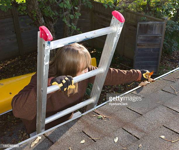 Autumn Gutter or Eavestrough Cleaning.