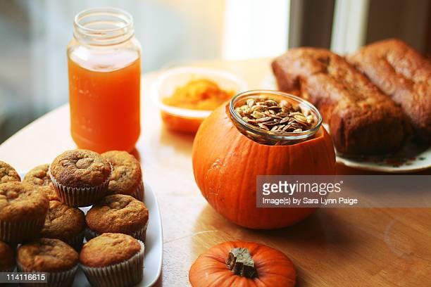 Autumn harvest homemade food