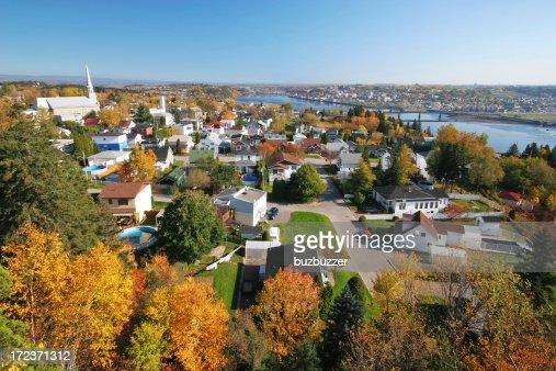 Autumn in Chicoutimi City