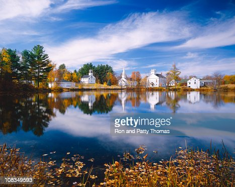 Herbst in new hampshire stock foto getty images for Dude ranch new hampshire