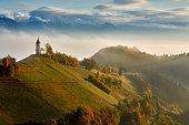 Autumn in the alps, Slovenia around the village Jamnik