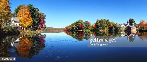 Autumn in the quaint village of Harrisville New Hampshire