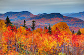 The White Mountains are a mountain range covering about a quarter of the state of New Hampshire and a small portion of western Maine in the United States