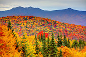Fall foliage in the White Mountains Region of New Hampshire.