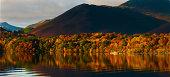 Derwentwater in Autumn in the English Lake District.