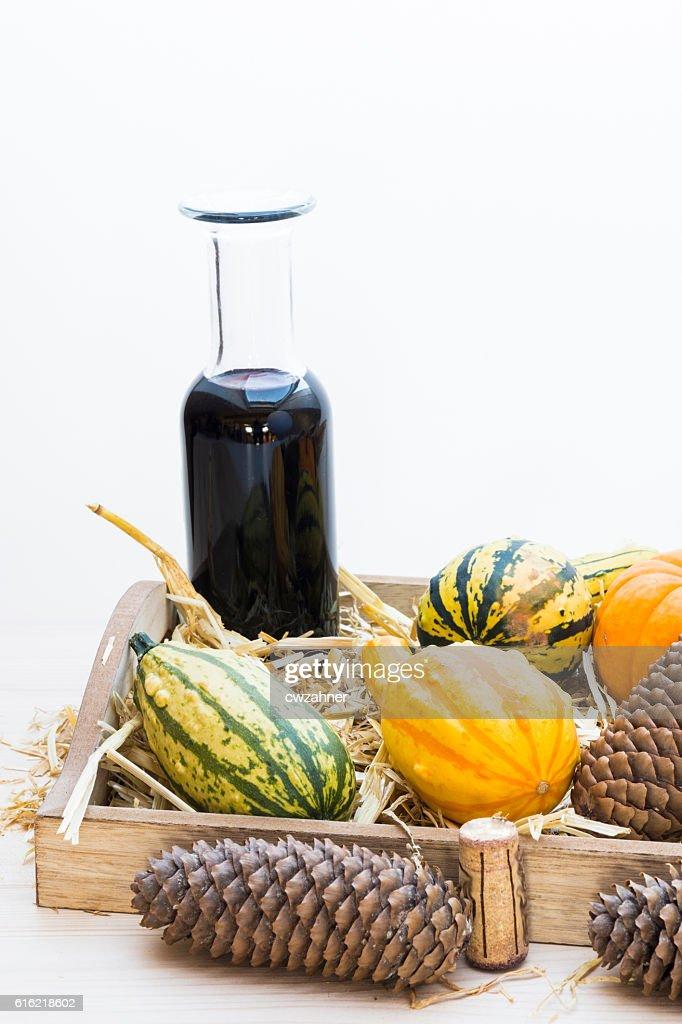 Autumn mood with decorative pumpkins : Stock-Foto