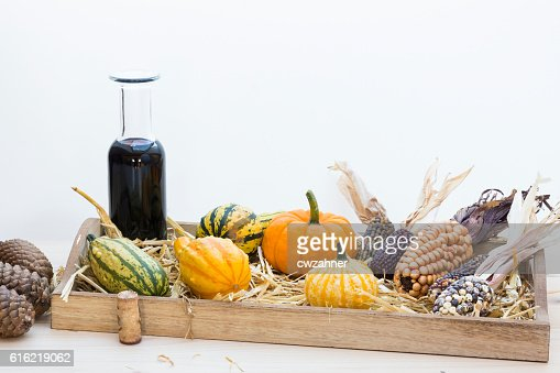 Autumn mood with decorative pumpkins : Stock Photo