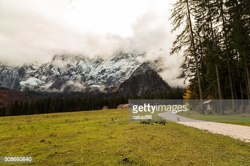 Autumn morning in the alps : Stock Photo