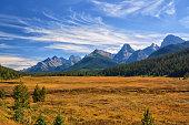 Autumn Rocky Mountain Landscape in Kananaskis Alberta.