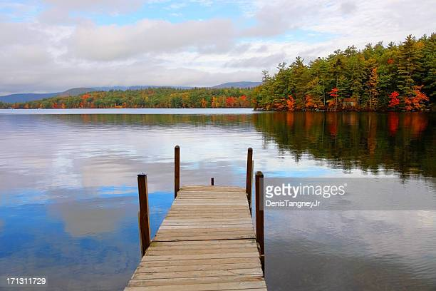 Autumn on Squam Lake in New Hampshire