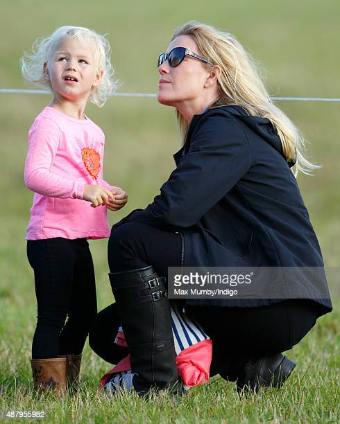 Autumn Phillips and daughter Isla Phillips attend day 2 of the Whatley Manor International Horse Trials at Gatcombe Park on September 12 2015 in...