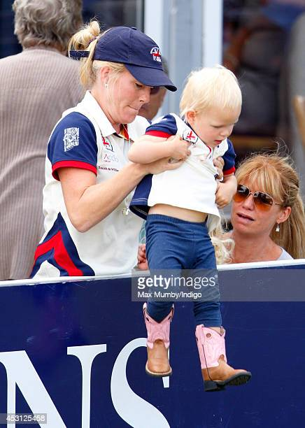 Autumn Phillips and daughter Isla Phillips attend day 3 of the Festival of British Eventing at Gatcombe Park on August 3 2014 in Minchinhampton...