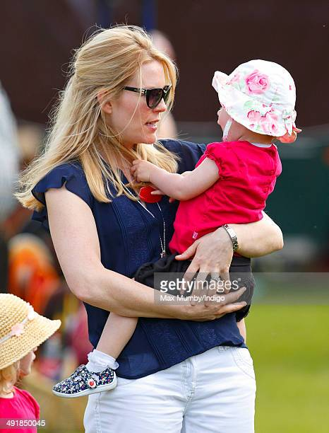 Autumn Phillips and daughter Isla Phillips attend day 4 of the Royal Windsor Horse Show at Home Park on May 17 2014 in Windsor England
