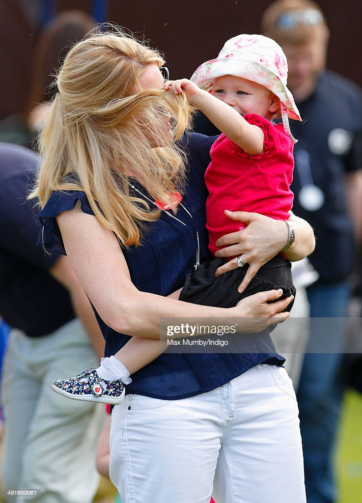 Autumn Phillips and daughter Isla Phillips attend day 4 of the Royal Windsor Horse Show at Home Park on May 17, 2014 in Windsor, England.