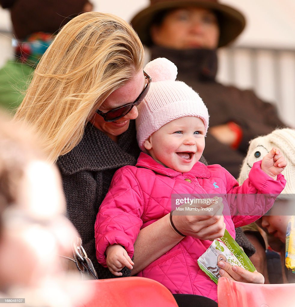 <a gi-track='captionPersonalityLinkClicked' href=/galleries/search?phrase=Autumn+Phillips&family=editorial&specificpeople=728048 ng-click='$event.stopPropagation()'>Autumn Phillips</a> and daughter Isla Phillips watch Zara Phillips compete in the dressage phase of the Badminton Horse Trials on May 4, 2013 in Badminton, England.