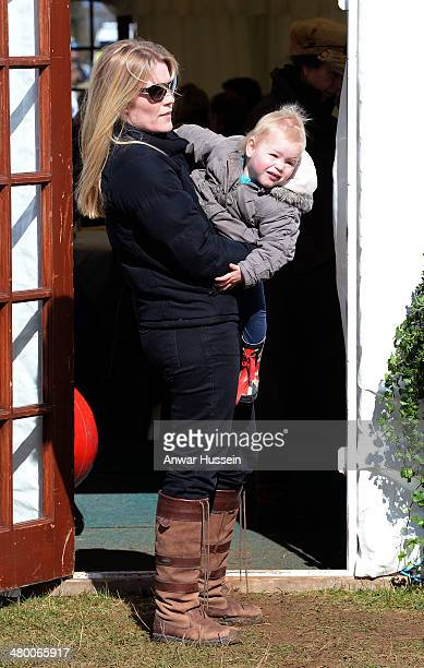 Autumn Phillips and her daughter Isla Phillips attend the Gatcombe Horse Trials at Gatcombe Park on March 22 2014 in Minchinhampton England